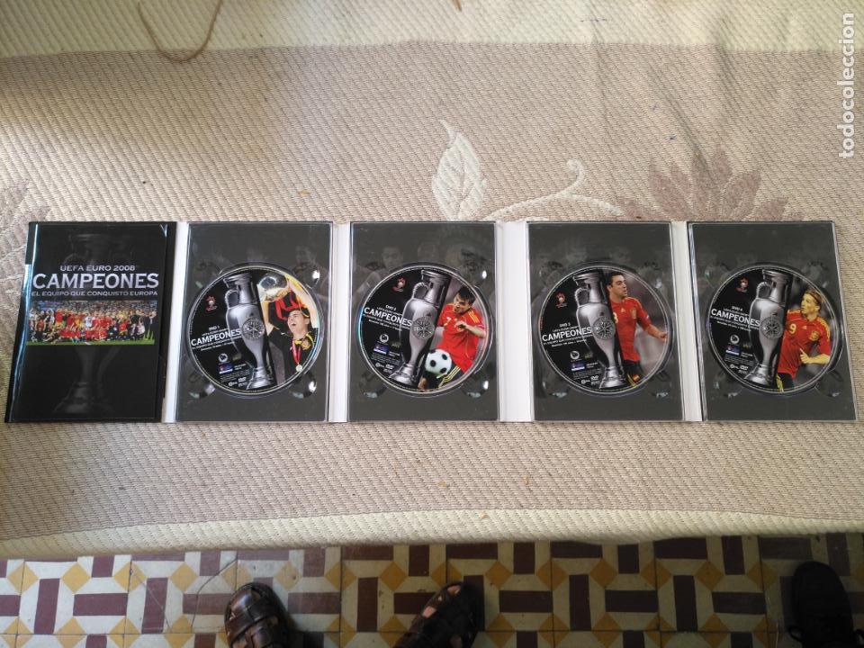 Coleccionismo deportivo: FUTBOL UEFA EURO 2008 TM CAMPEONES EL EQUIPO QUE CONQUISTO EUROPA 4 DVD - Foto 3 - 136257198