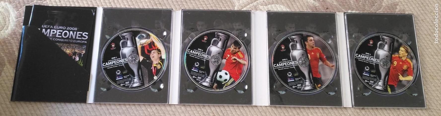 Coleccionismo deportivo: FUTBOL UEFA EURO 2008 TM CAMPEONES EL EQUIPO QUE CONQUISTO EUROPA 4 DVD - Foto 9 - 136257198