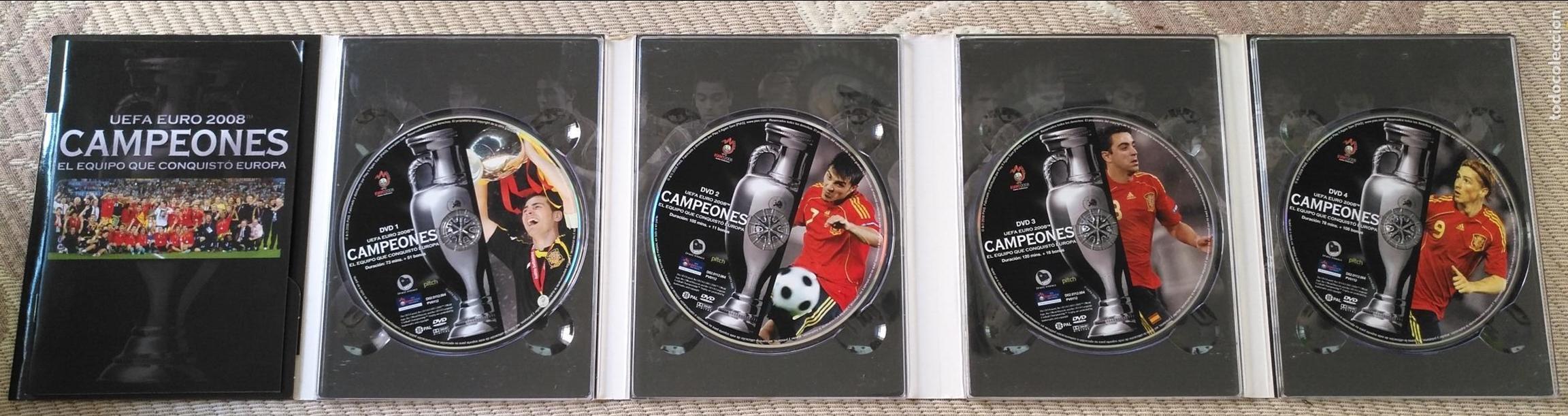 Coleccionismo deportivo: FUTBOL UEFA EURO 2008 TM CAMPEONES EL EQUIPO QUE CONQUISTO EUROPA 4 DVD - Foto 11 - 136257198
