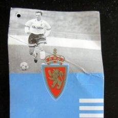 Coleccionismo deportivo: ETIQUETA CAMISETA REAL ZARAGOZA ADIDAS AÑOS 90 ALBERTO BELSUE. Lote 138648838