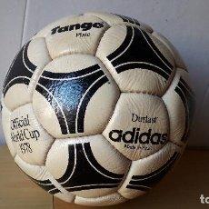 Coleccionismo deportivo: BALON FUTBOL ADIDAS DURLAST / TANGO RIVER PLATE / OFFICIAL WORLD CUP 1978 /MADE IN SPAIN / NO JUGADO. Lote 140001126