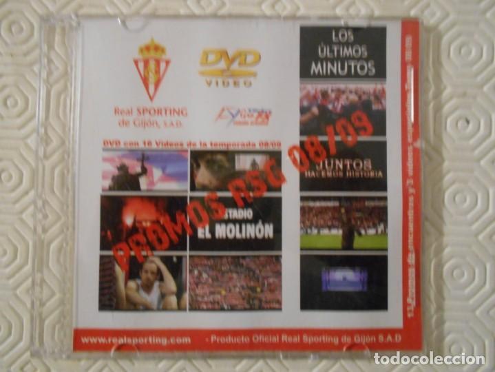 REAL SPORTING DE GIJON. PROMOS RSG 08/09. MEMORABLE DVD. 16 VIDEOS DE LA PRIMERA TEMPORADA EN PRIMER (Coleccionismo Deportivo - Material Deportivo - Fútbol)