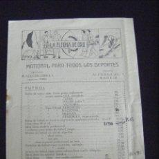Coleccionismo deportivo: JML PUBLICIDAD MATERIAL DEPORTIVO VENTA DEPORTES LA FLECHA DE ORO MADRID 1946 8 PÁGINAS VER FOTOS.. Lote 140473946