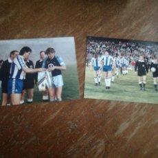 Coleccionismo deportivo: RCD ESPAÑOL CLUB BRUGGE BELGIQUE PHOTO FOOTBALL FUTBOL FOTOGRAFIA ANTIGUA UEFA CUP BELGIUM PHOTOGRAP. Lote 142979258
