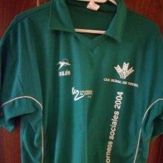 Coleccionismo deportivo: CAMPUS REAL ZARAGOZA TERUEL ARAGON RASAN XL CAMISETA FUTBOL FOOTBALL SHIRT . Lote 143106506