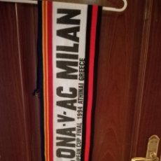 Coleccionismo deportivo: AC MILAN FC BARCELONA CALCIO FINAL SCIARPA VERY RARE VINTAGE 1994 BUFANDA SCARF FUTBOL FOOTBALL . Lote 143108370