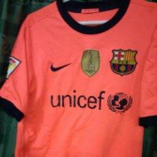 Coleccionismo deportivo: FC BARCELONA DAVID VILLA S DORSAL MAL ESTADO CAMISETA FUTBOL FOOTBALL SHIRT . Lote 143193710
