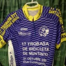 Coleccionismo deportivo: SAVALL CC CICLISMO CICLISTA MAILLOT S . Lote 143195358