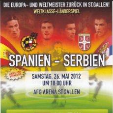 Coleccionismo deportivo: ESPANA - COREA Y ESPANA - SERBIA 2012 AFICHE DESDE SUIZA. Lote 143201802
