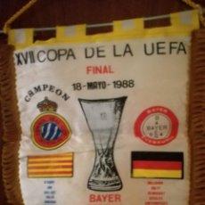 Coleccionismo deportivo: BAYER LEVERKUSSEN RCD ESPANYOL FINAL PENNANT BANDERIN BUFANDA SCARF FOOTBALL FUTBOL. Lote 143995902