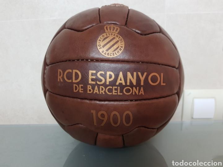 BONITA REPLICA EN CUERO PELOTA RCD ESPANYOL DE BARCELONA 1900 (Coleccionismo Deportivo - Material Deportivo - Fútbol)