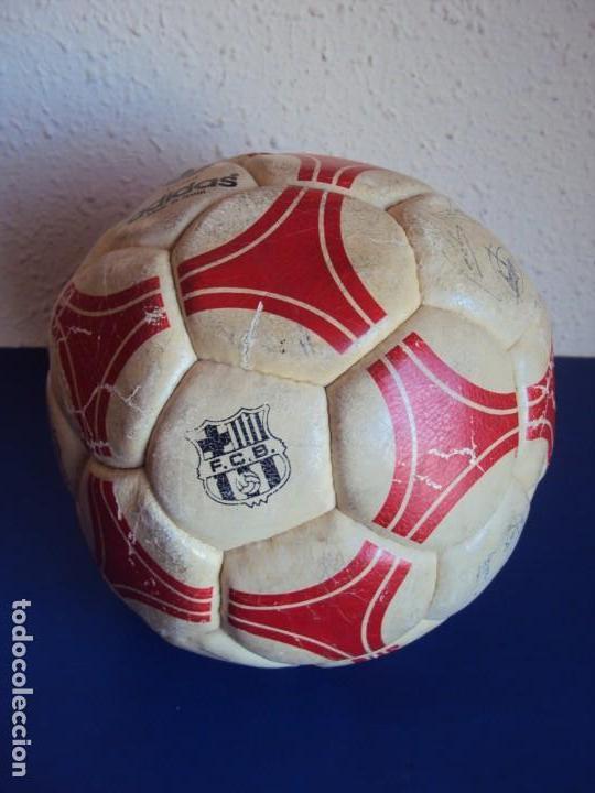 (F-190132)BALON ADIDAS TANGO ROSARIO,EDICION ESPECIAL F.C.BARCELONA,FIRMAS MARADONA,QUINI,MIGUELI,ET (Coleccionismo Deportivo - Material Deportivo - Fútbol)