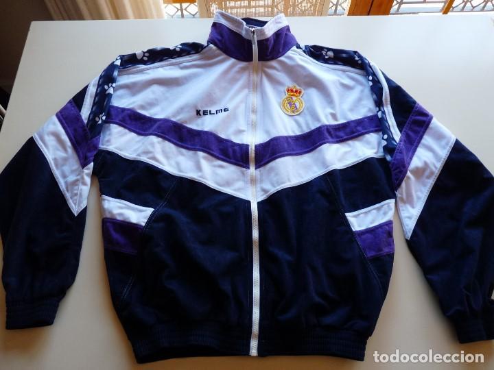 CHAQUETA KELME REAL MADRID (Coleccionismo Deportivo - Material Deportivo - Fútbol)