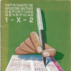 Coleccionismo deportivo: FUT-113 PREMIOS Y PRONOSTICOS, PATRONATO DE APUESTAS DEPORTIVAS BENEFICAS. 1953-54. Lote 147841138