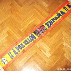 Coleccionismo deportivo: BUFANDA ESPAÑA A POR ELLOS : WORLD CUP 2010 SPAIN POR 2 LADOS POLIESTER SCARF. Lote 149849494