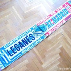Coleccionismo deportivo: BUFANDA SCARF CD LEGANES VS ATLETICO MADRID DEBUT LIGA BUTARQUE 2016 ECHARPE. Lote 149850594