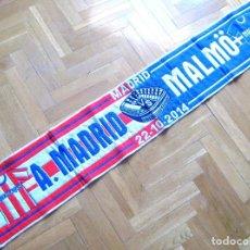 Coleccionismo deportivo: BUFANDA SCARF ATLETICO MADRID - MALMO MALMOE SWEDEN CHAMPIONS 14-5 SCHAL SCIARPA. Lote 149851674