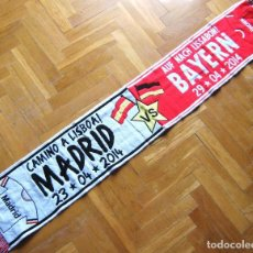 Coleccionismo deportivo: BUFANDA SCARF REAL MADRID - BAYERN MUNCHEN CHAMPIONS LEAGUE 13-14 SCHAL ECHARPE. Lote 149853634