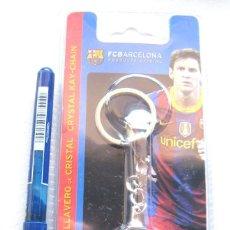 Coleccionismo deportivo: LLAVERO OFICIAL FC BARCELONA ESTUCHE LIONEL MESSI KEY RING CHAIN CLAUER OFFICIAL. Lote 149878774