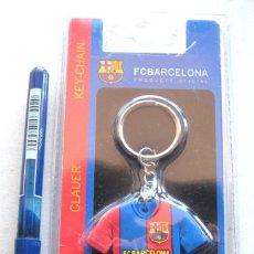 Coleccionismo deportivo: LLAVERO OFICIAL FC BARCELONA ESTUCHE EQUIPACION CAMISETA KEY RING CHAIN CLAUER. Lote 149879354