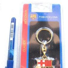 Coleccionismo deportivo: LLAVERO OFICIAL FC BARCELONA ESTUCHE LOGO / ESCUDO KEY RING CHAIN CLAUER METAL. Lote 149879574