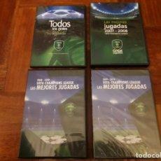 Coleccionismo deportivo: LOTE DVDS UEFA CHAMPIONS LEAGUE GOLES HEINEKEN FINAL DON BALON. Lote 150704382