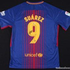 Coleccionismo deportivo: CAMISETA DE LUIS SUAREZ FC BARCELONA CON AUTOGRAFO Y COA BECKETT. Lote 153132538