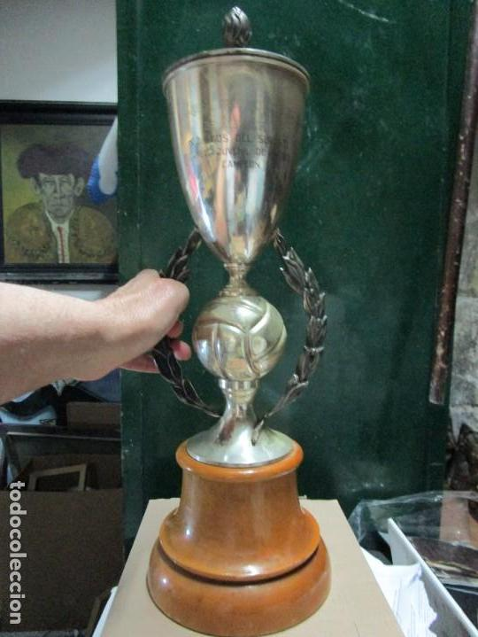 Coleccionismo deportivo: COPA CAMPEON TROFEO IX JUEGOS DEL SURESTE DE ESPAÑA ALICANTE FUTBOL JUVENIL 1958 - Foto 2 - 154484962