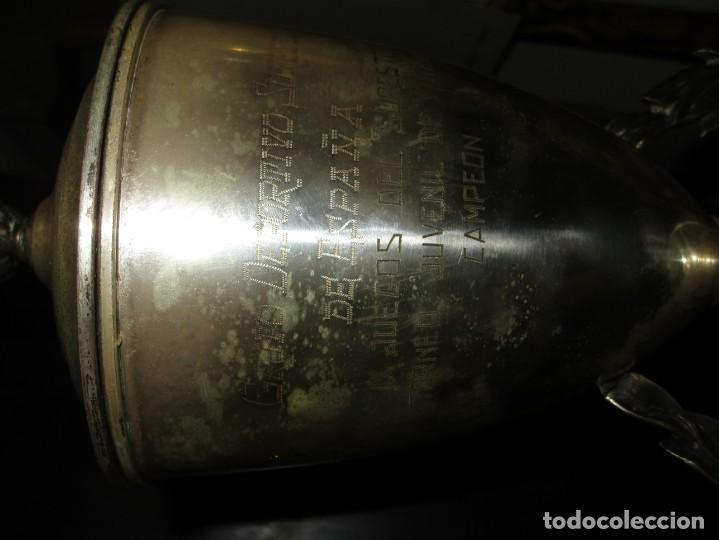 Coleccionismo deportivo: COPA CAMPEON TROFEO IX JUEGOS DEL SURESTE DE ESPAÑA ALICANTE FUTBOL JUVENIL 1958 - Foto 12 - 154484962