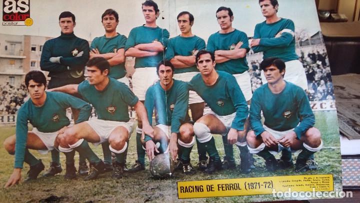 Coleccionismo deportivo: POSTER AS COLOR AÑOS 70 . LOTE VARIADO EQUIPOS 1 DIVISION - Foto 3 - 154991098