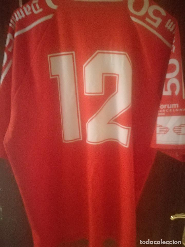34737a447ca Coleccionismo deportivo  CF DAMM ANIVERSARIO L MATCH WORN Football shirt  camiseta futbol - Foto 2