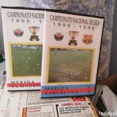 Coleccionismo deportivo: CP MERIDA VIDEOTECA 1995 - 96. 1 DIVISION. LOTE PARTIDOS.. Lote 155714750