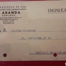 Coleccionismo deportivo: VALENCIA J.ARANDA MANUFACTURAS EN PIEL FABRICA BALONES.. Lote 156701654