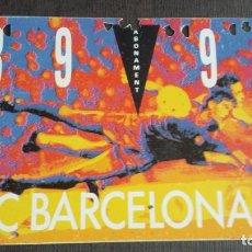 Coleccionismo deportivo: CARNET SOCIO SOCI ABONAMENT- FC BARCELONA - TEMPORADA 89 90 1989 1990 - GOL SUD 3ª GRADERIA. Lote 158746018