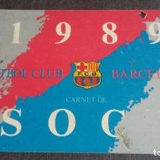 Coleccionismo deportivo: CARNET SOCIO SOCI 3ER TRIMESTRE 1989 - FC BARCELONA -. Lote 158746310