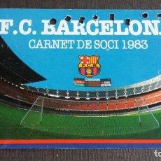Coleccionismo deportivo: CARNET SOCIO SOCI 1ER TRIMESTRE 1983 - FC BARCELONA -. Lote 158746646