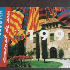 Coleccionismo deportivo: CARNET SOCIO SOCI 1ER TRIMESTRE 1990 - FC BARCELONA -. Lote 158746906