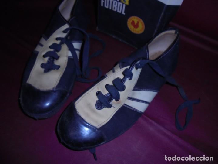 Coleccionismo deportivo: magnificas antiguas botas de futbol de la marca elche - Foto 3 - 160416962