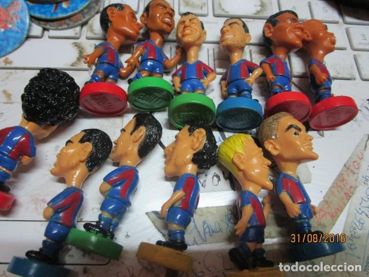Coleccionismo deportivo: FCB 2001 BARCELONA FUTBOL CLUB COLECCION COMPLETA 12 MUÑECOS - Foto 7 - 161204938