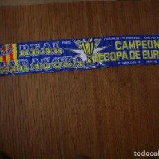 Coleccionismo deportivo: BUFANDA REAL ZARAGOZA FINAL RECOPA 95 ARSENAL. Lote 161984502