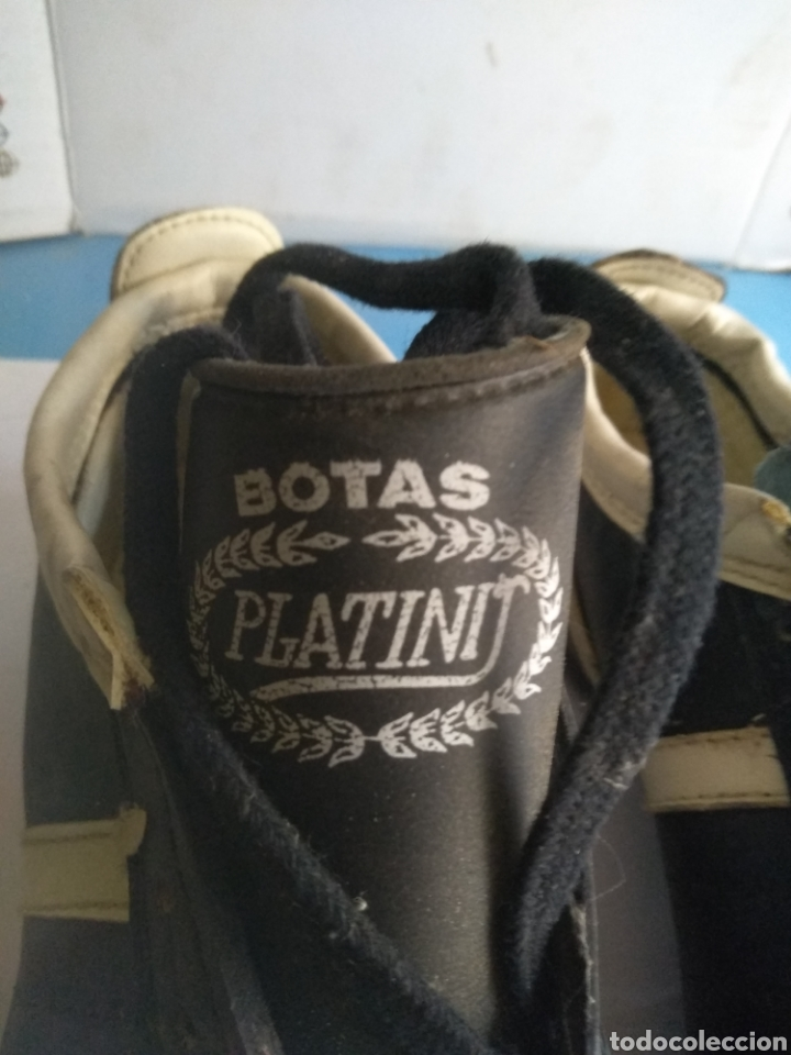 Coleccionismo deportivo: Botas de fútbol Sala Elastorsa,marca Platiny años 80 - Foto 2 - 163082514