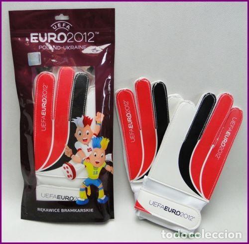 UEFA EURO 2012 PAR GUANTES FUTBOL PORTERO NUEVOS (Coleccionismo Deportivo - Material Deportivo - Fútbol)