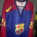 Coleccionismo deportivo: FC BARCELONA ICE HOCKEY MATCH WORN MUSEUM SECTION XXL CAMISETA FUTBOL FOOTBALL SHIRT . Lote 164784578