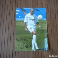 Coleccionismo deportivo: LAMINA RONALDO NAZARIO REAL MADRID. 19 X 27 CM. Lote 166381358