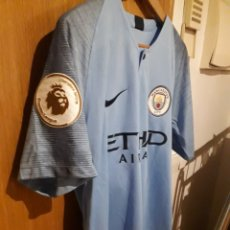Coleccionismo deportivo: CAMISETA MATCH WORN MANCHESTER CITY 2018/2019 STERLING, FIRMADA. Lote 166456834