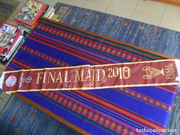 BUFANDA SCARF OFICIAL FINAL CHAMPIONS LEAGUE 2010 INTER MILAN  INTERNAZIONALE BAYERN MUNCHEN MUNICH