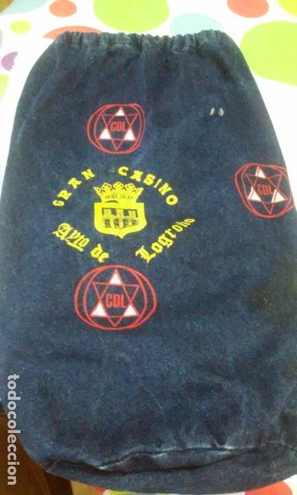 BOLSA DEPORTE-FÚTBOL CLUB DEPORTIVO LOGROÑES (GRAN CASINO - AYTO. DE LOGROÑO) AÑOS 70-80 (Coleccionismo Deportivo - Material Deportivo - Fútbol)