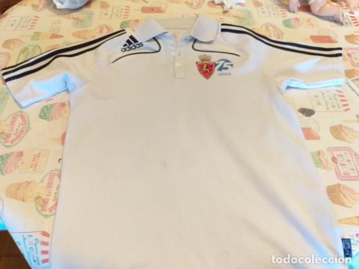 CAMISETA POLO REAL ZARAGOZA 75 AÑOS ( ADIDAS) (Coleccionismo Deportivo - Material Deportivo - Fútbol)