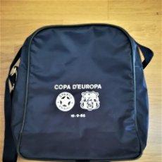 Coleccionismo deportivo: FUTBOL CATALAN,BOLSA MOCHILA ORIGINAL F.C.BARCELONA,PARTIDO COPA EUROPA 1985,BARÇA-SPARTA,COMO NUEVA. Lote 168015808