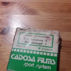Coleccionismo deportivo: CADOSA FILMS SPORT SYSTEM FC BARCELONA 4 REAL SOCIEDAD 1 SUPER 8 BARÇA. Lote 168353362